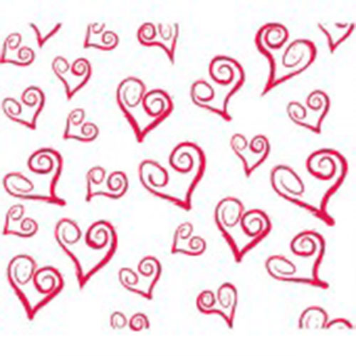 All Hearts Tissue Paper Multi Listing 500x750mm